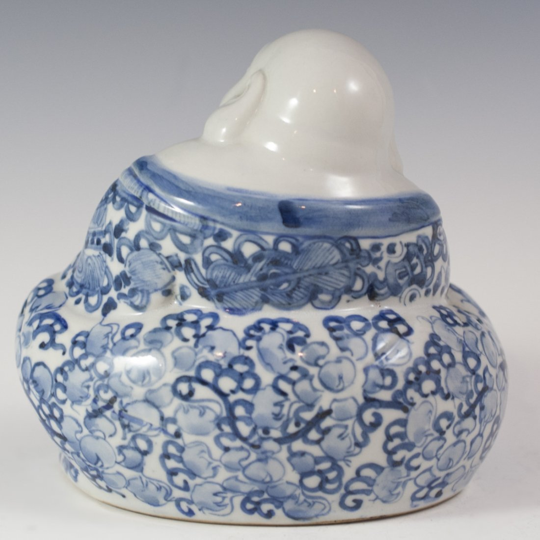 Chinese Blue & White Porcelain Buddha - 2