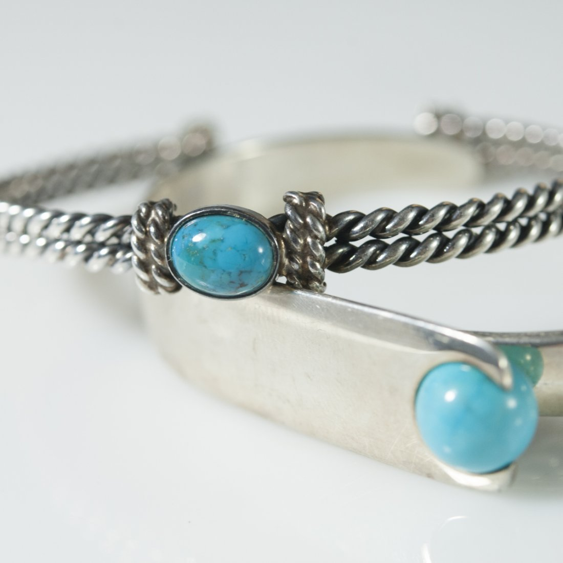 Sterling & Turquoise Cuffs - 4