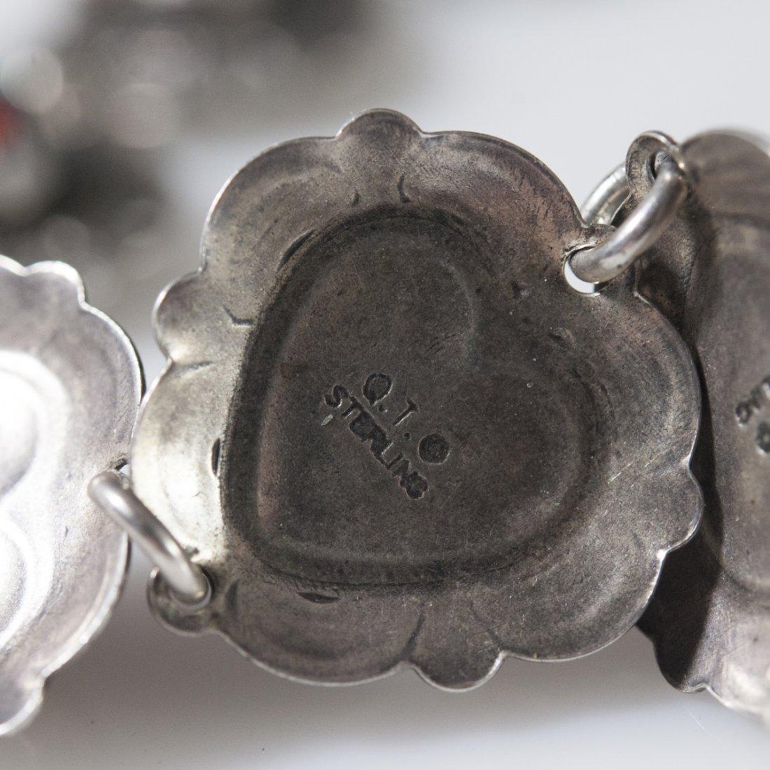 Sterling & Semi-Precious Stone Bracelet - 3