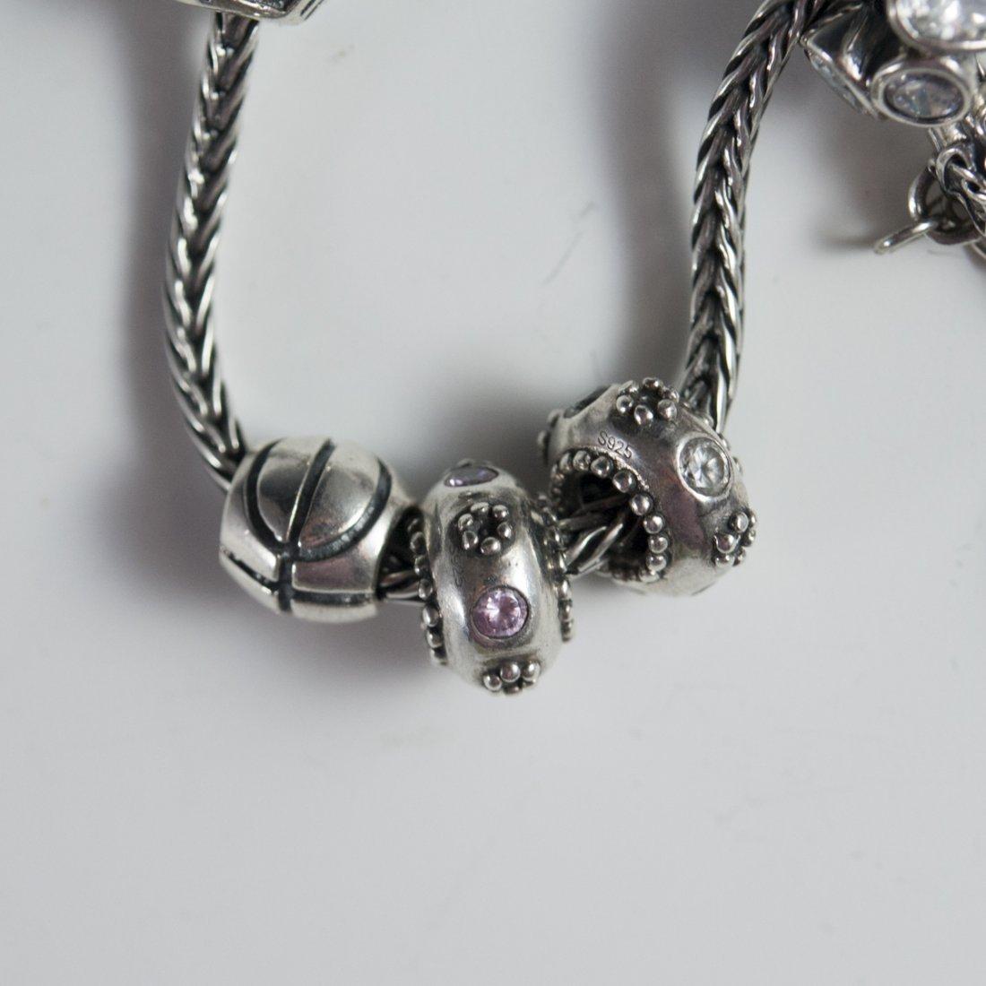 Pandora Style Sterling Bracelets - 5