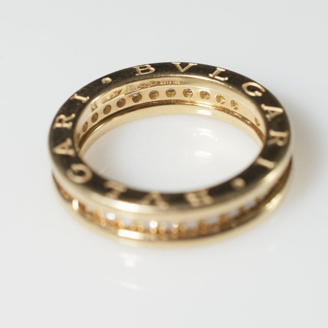 Bvlgari 18kt Gold & Diamond Wedding Band - 2