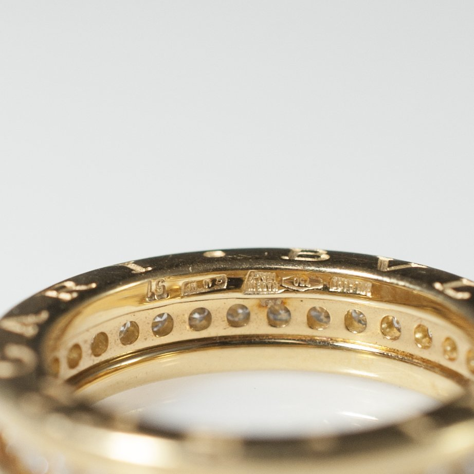 Bvlgari 18kt Gold & Diamond Wedding Band - 3