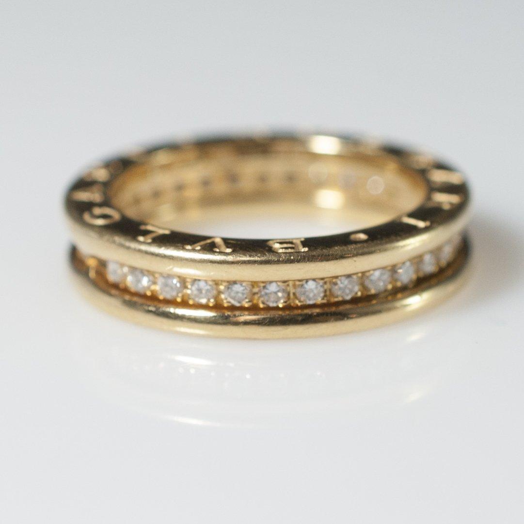 Bvlgari 18kt Gold & Diamond Wedding Band - 4