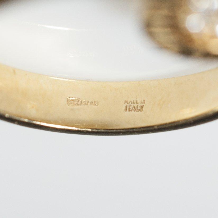 Bvlgari 18kt Gold & Diamond Flip Ring - 3