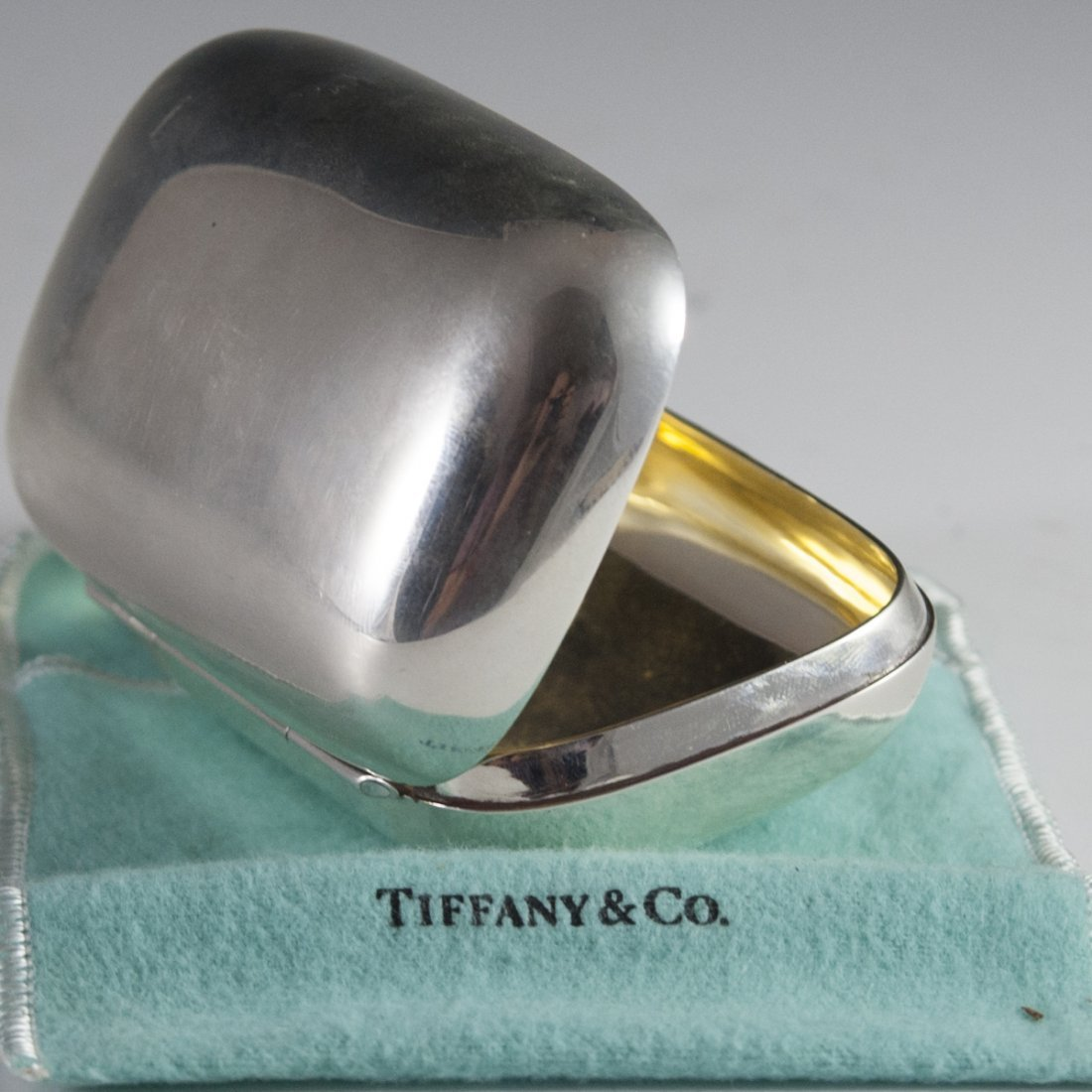 Tiffany & Co. Makers Sterling Pill Box