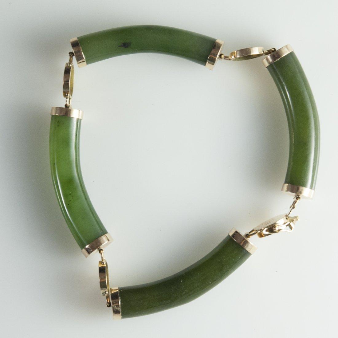 14kt Gold & Jade Bracelet
