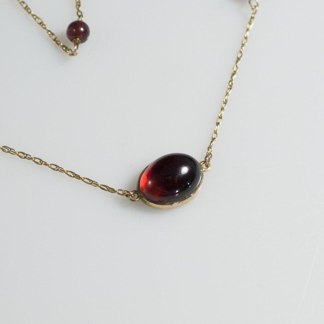 14kt Gold & Garnet Necklace - 2