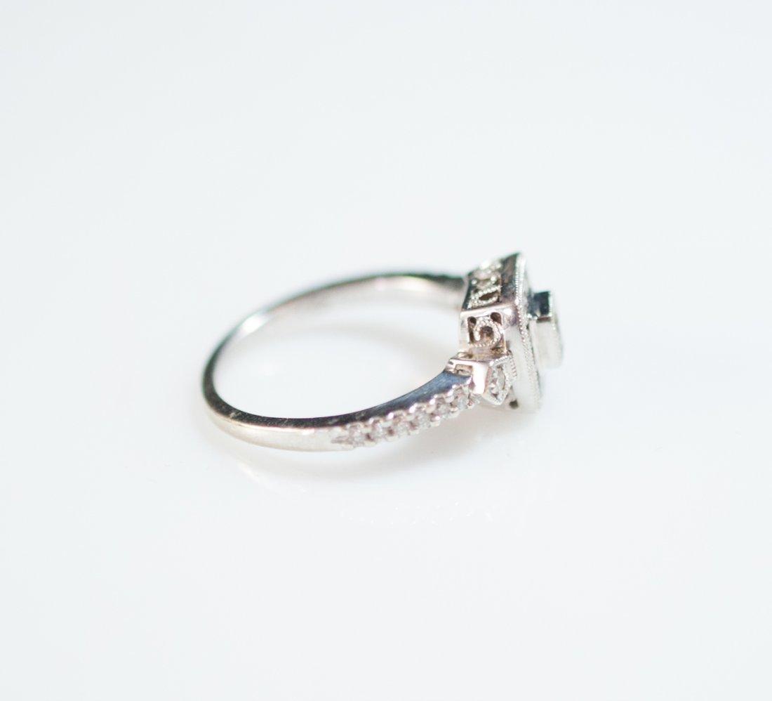18kt Gold Filigree Diamond Ring - 2