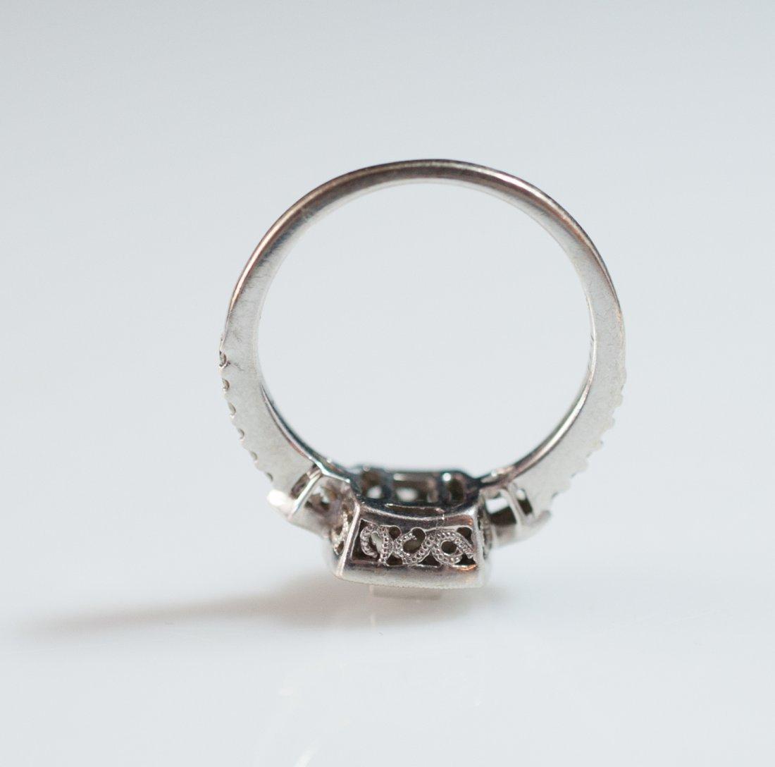 18kt Gold Filigree Diamond Ring - 3