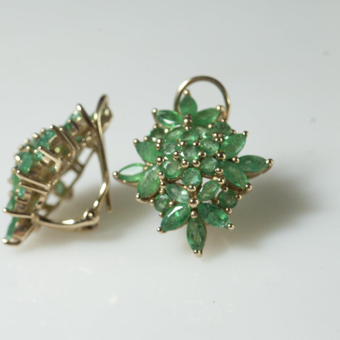 10kt Gold & Emerald Earrings - 2
