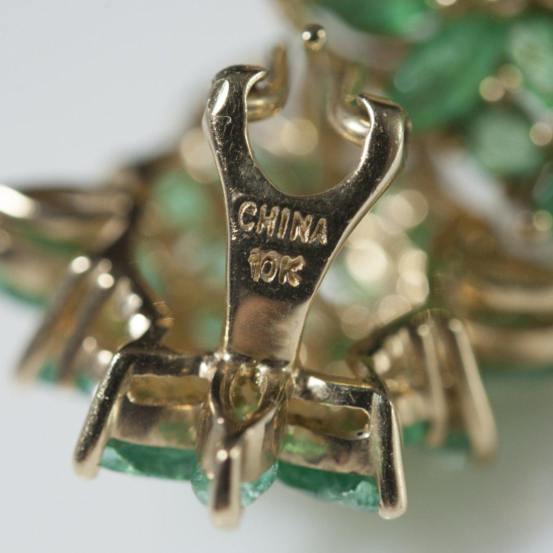10kt Gold & Emerald Earrings - 3