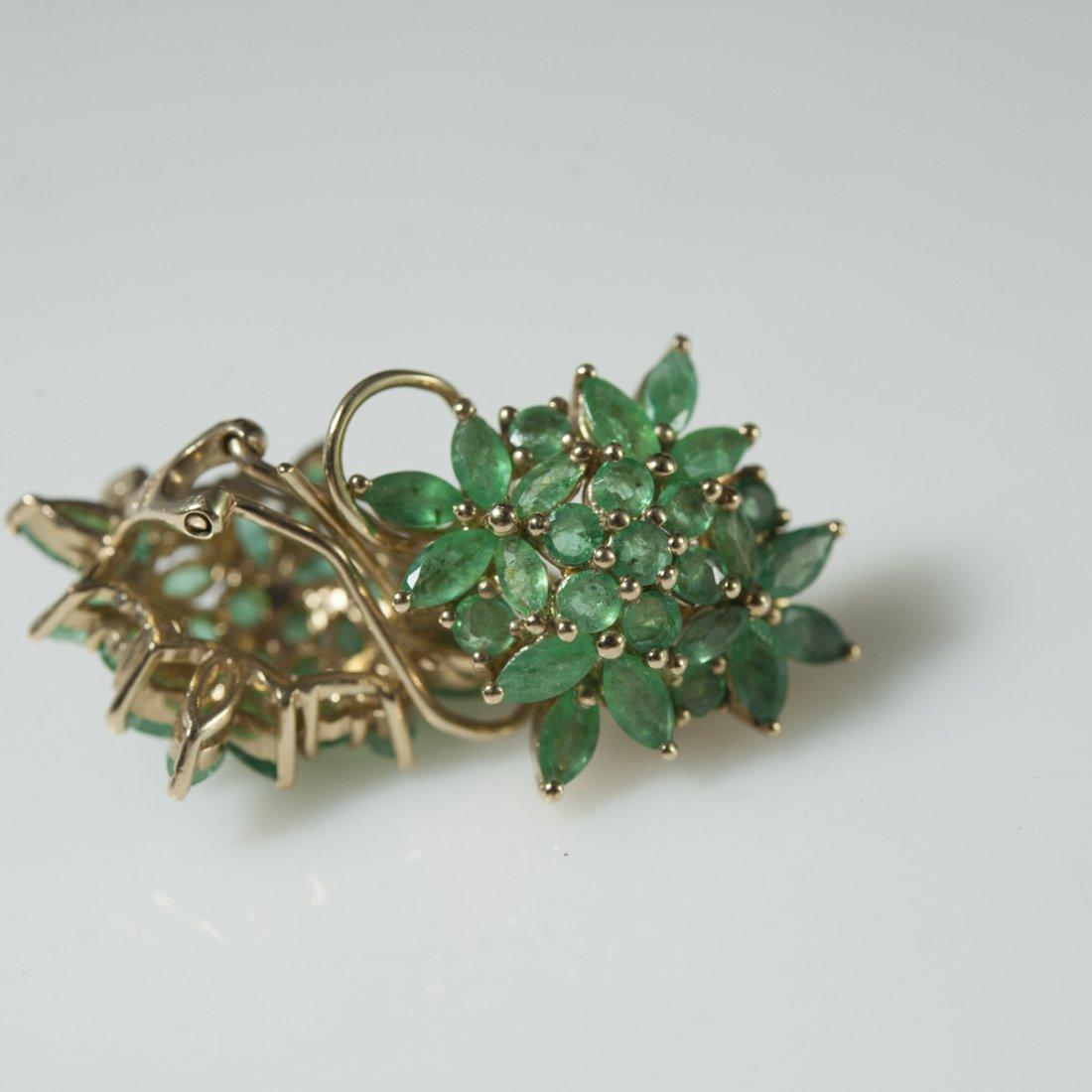10kt Gold & Emerald Earrings - 4