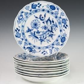 """Meissen """"Blue Onion"""" Porcelain Salad Plates"""