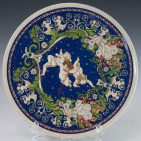 """Rosenthal """"Christmas With Versace"""" Porcelain Charger"""