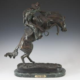 "Frederic Remington (American 1861-1909) ""Bronco Buster"""