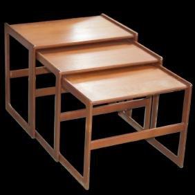 Danish Teak Nesting Tables by Arne Hovmand Olsen