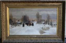 WILLIAM PRESTON PHELPS (1848-1923, NH), LARGE OIL