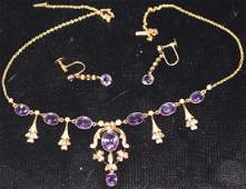 3 PIECE SET TO INCLUDE 10KT. GOLD NECKLACE WITH