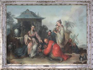 2 LARGE OIL PAINTINGS BY JEAN-BAPTISTE LE PRINCE,