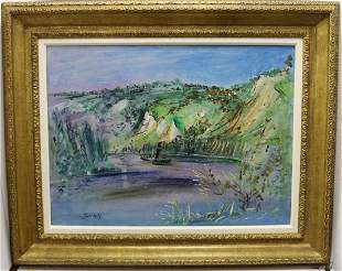 JEAN DUFY (1888-1964, FRANCE) OIL PAINTING ON
