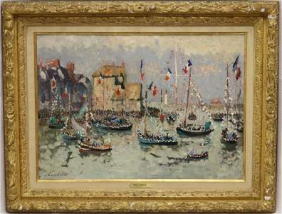 ANDRE HAMBOURG (1909-1999, FRANCE) OIL PAINTING