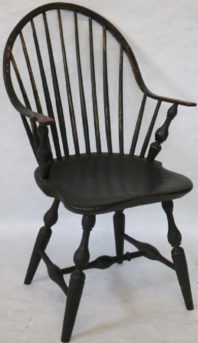 LATE 18TH C AMERICAN WINDSOR CONTINUOUS