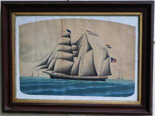 19TH C CHINA TRADE WATERCOLOR ON PAPER DEPICTING