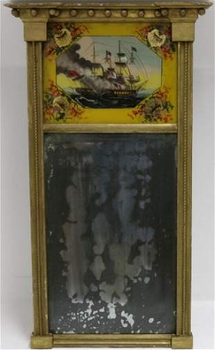 EARLY 19TH C AMERICAN REVERSE PAINTED TABERNACLE
