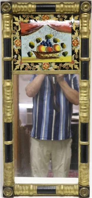 EARLY 19TH C AMERICAN TABERNACLE FORM MIRROR