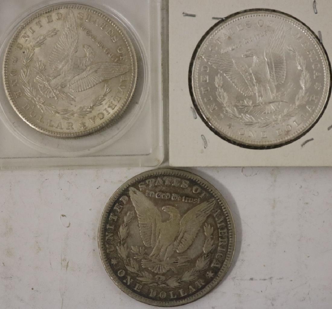 3 MORGAN SILVER DOLLARS INCLUDING A 1904-O IN BU - 2