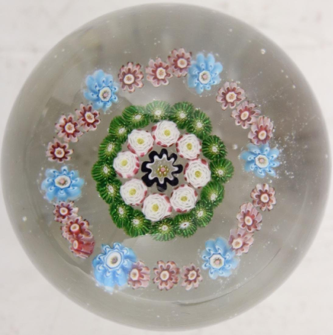 CLICHY PAPERWEIGHT, FRENCH, MOSS CANES, WHITES