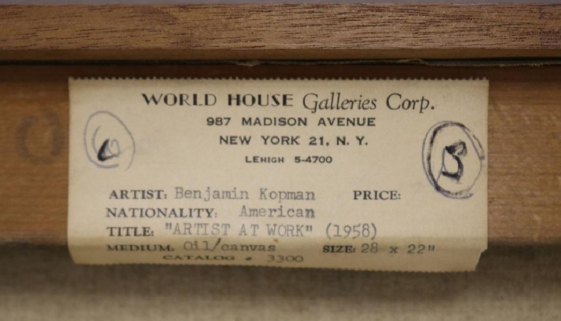 BENJAMIN KOPMAN (1887-1965, NY & NJ), OIL ON - 4