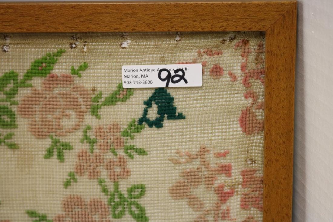 LATE 19TH C NEEDLEWORK SAMPLER, TITLED REPUBLICA - 2