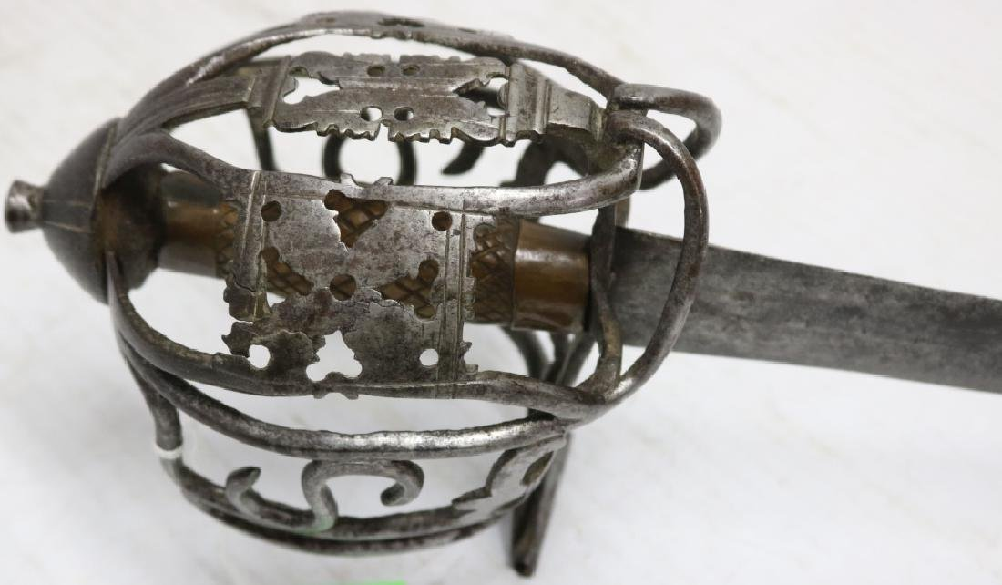 18TH C SCOTTISH HILTED BROADSWORD, REPAIRED - 2