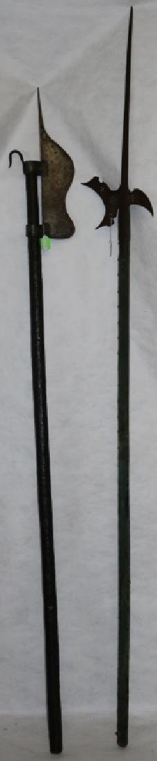 2 VICTORIAN ERA GLAIVES OR POLEARMS.  ONE IS