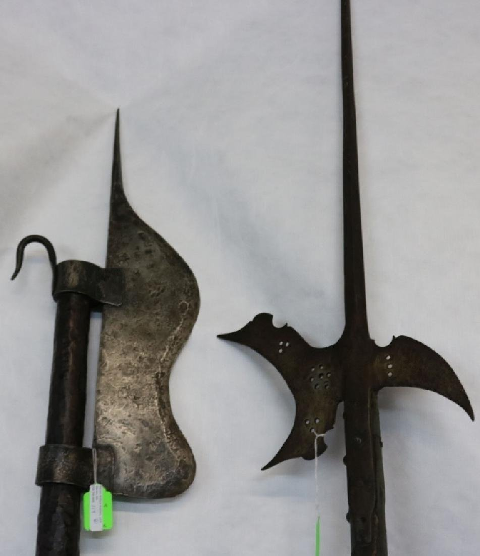2 VICTORIAN ERA GLAIVES OR POLEARMS.  ONE IS - 4