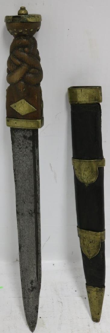 LATE 18TH C OR EARLY 19TH C SCOTTISH DIRK WITH - 3