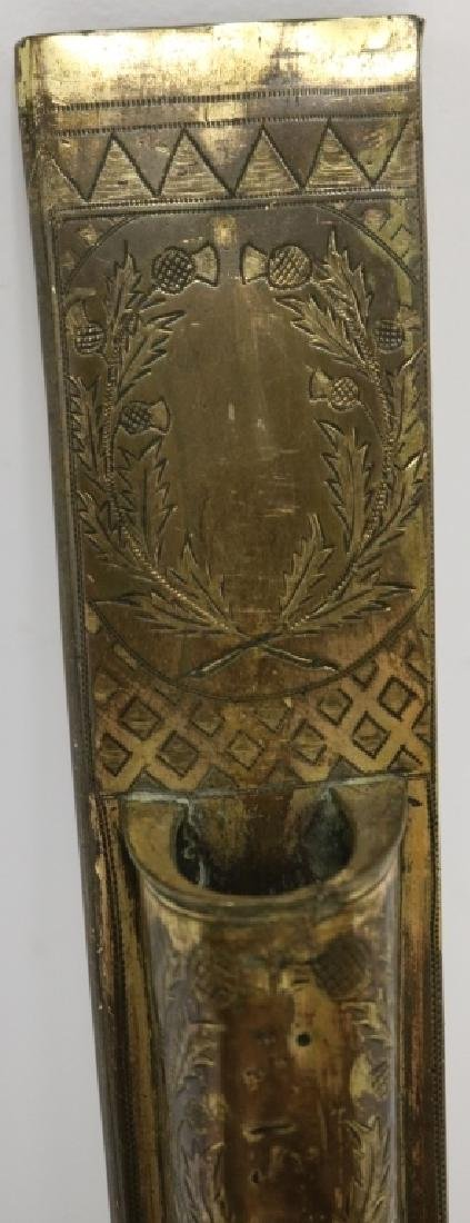 EARLY 19TH C SCOTTISH DIRK, CARVED WOODEN HANDLE - 3