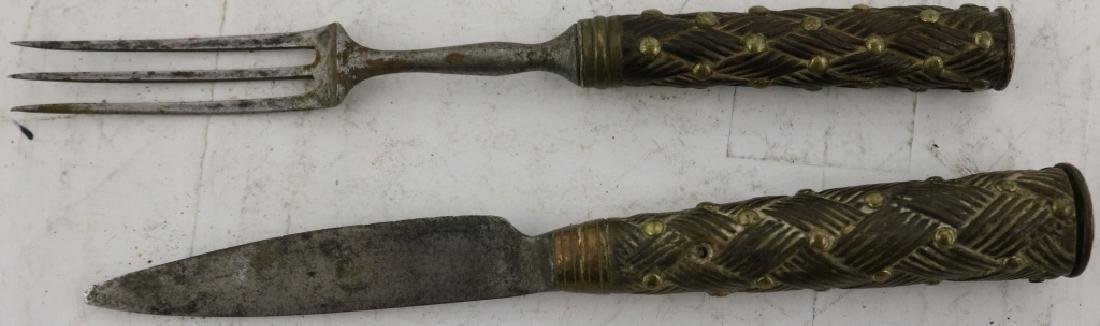 EARLY 19TH C SCOTTISH DIRK, CARVED WOODEN HANDLE - 5