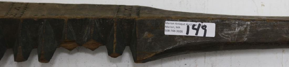 19TH C SAMOAN WAR CLUB WITH CHIP CARVED - 2