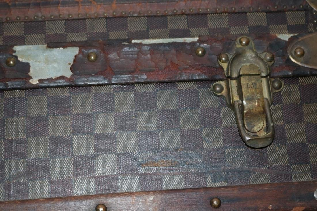 LOUIS VUITTON TRUNK, CA 1885, RARE RED DAMIER - 10