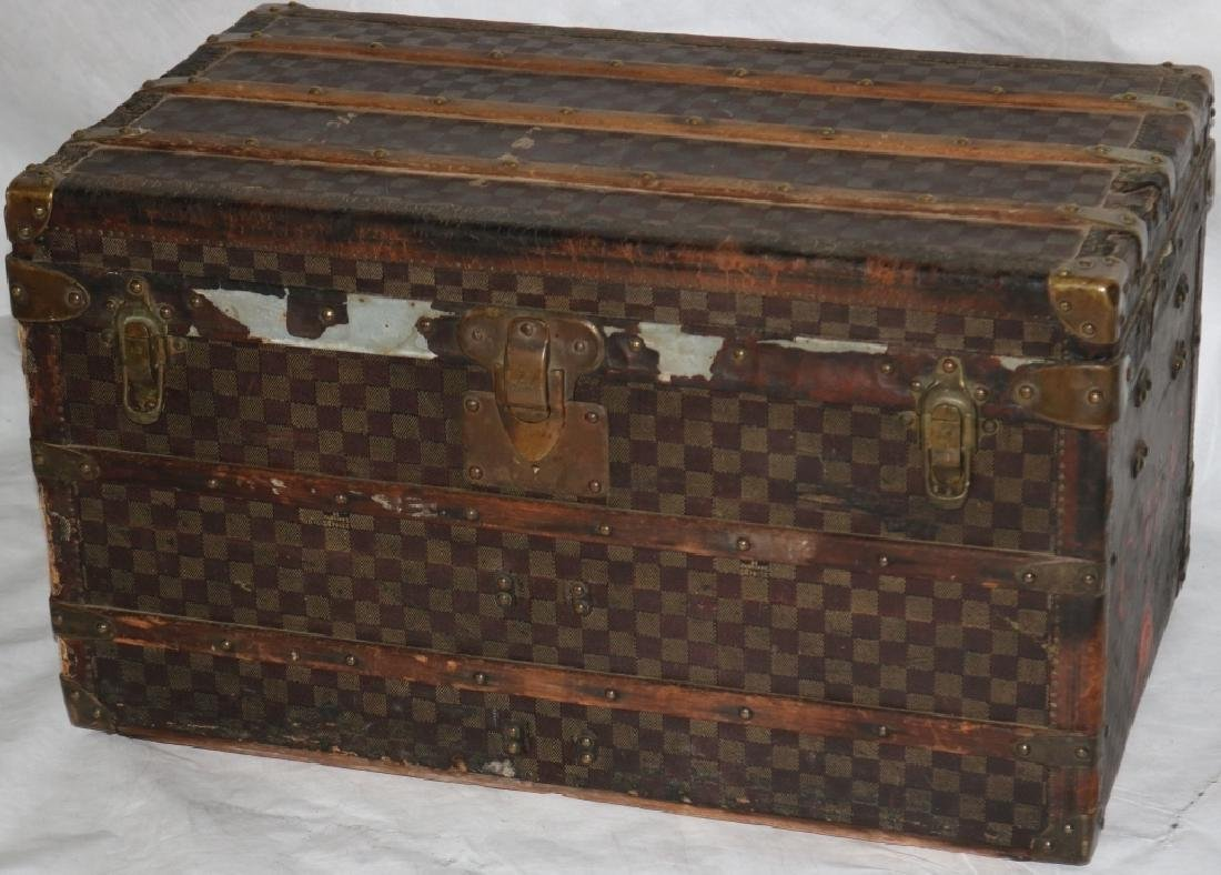 LOUIS VUITTON TRUNK, CA 1885, RARE RED DAMIER
