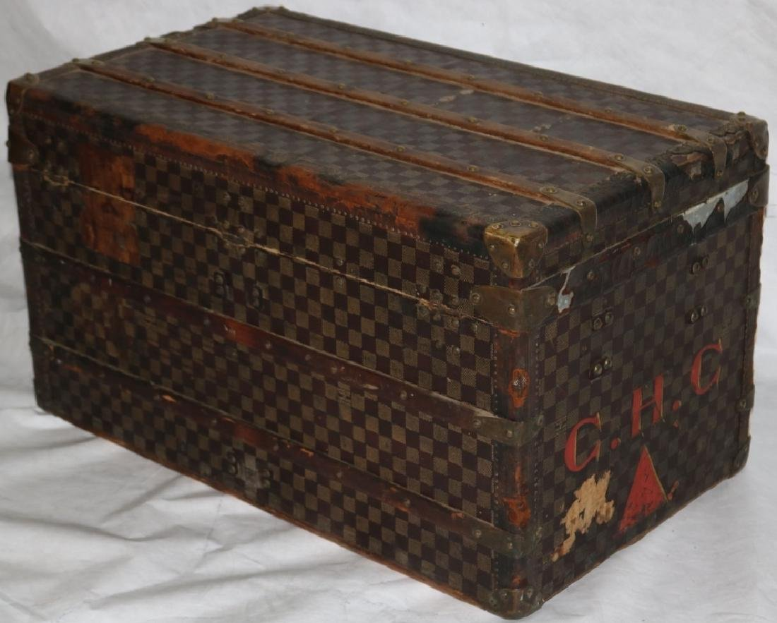 LOUIS VUITTON TRUNK, CA 1885, RARE RED DAMIER - 6