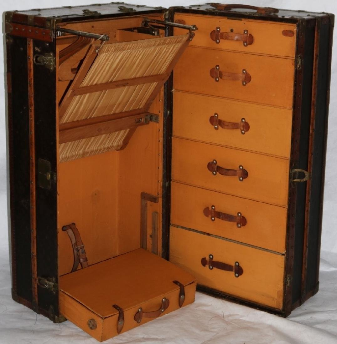 LOUIS VUITTON TRUNK, CA 1900, WITH FITTED - 3
