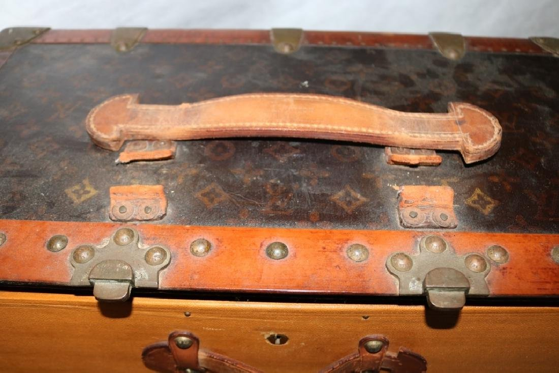LOUIS VUITTON TRUNK, CA 1900, WITH FITTED - 6