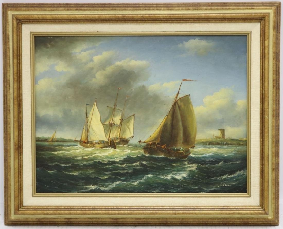 J. CLARK, (19TH C, BRITISH) OIL PAINTING ON BOARD