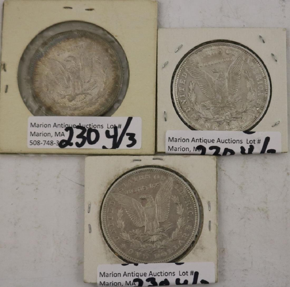 3 U.S. SILVER DOLLARS INCLUDING ONE 1904 - 2