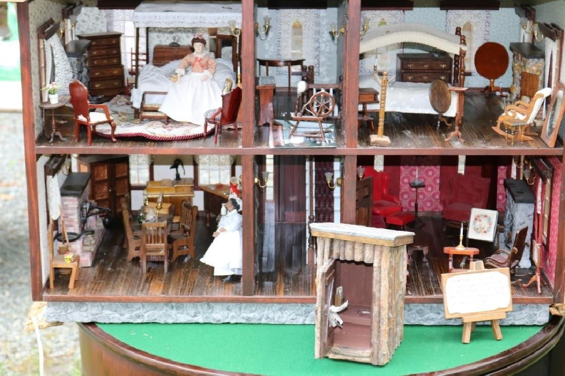 EXTRAORDINARY HANDMADE WOODEN DOLLHOUSE, LATE - 4