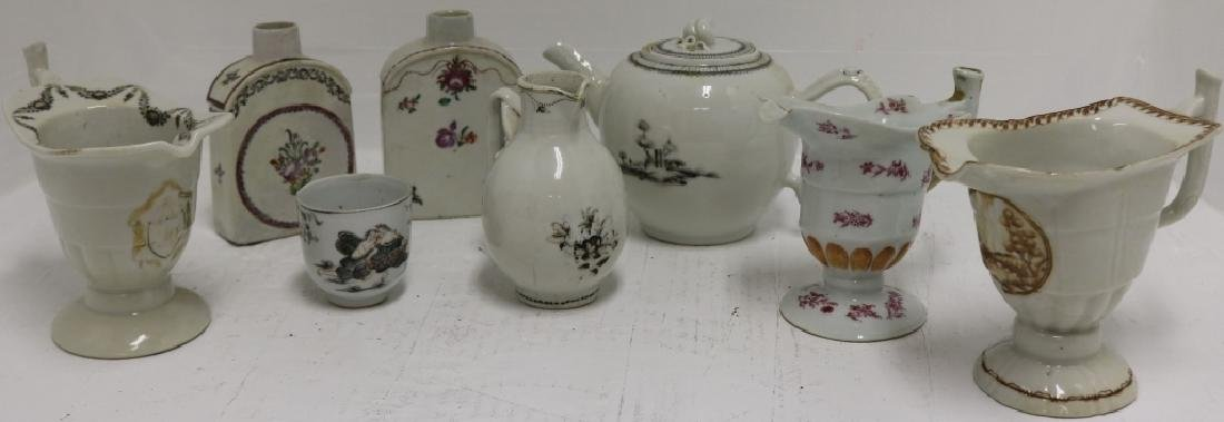 8 PCS OF CHINESE EXPORT PORCELAIN TO INCLUDE
