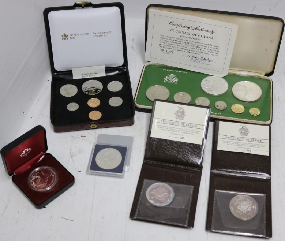 6 FOREIGN PROOF COINS INCLUDING 1980, 81 CANADIAN